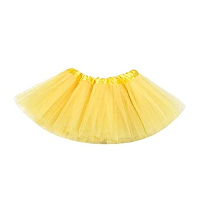 belababy Baby Tutu Skirt, Infant Tutus, 5 Layers Tulle Dress Up for Baby Girls &Toddlers Yellow