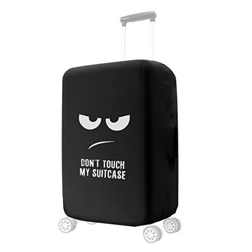kwmobile Coprivaligia con cerniera - Fodera copertura protettiva - Copritrolley elastico in poliestere e spandex per bagagli Valigia (L) Don't touch my Suitcase
