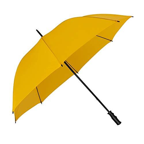 VON LILIENFELD Regenschirm Partnerschirm Golfschirm Damen Herren Gross XXL Stabil Julian gelb