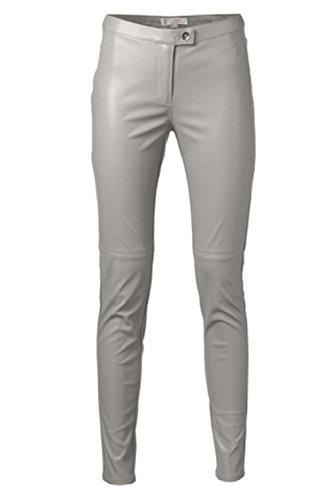 yaya Damen Lederhose Hose Leder Optik in aktuellen Farben und Designs (36, Dove)