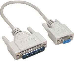 CABLECHOICE Bombing new work 5 Pack Max 44% OFF 1Ft DB25-M Serial Cable DB9-F
