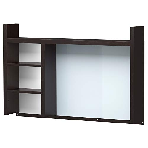 IKEA Micke Anbaueinheit hoch, schwarz-braun