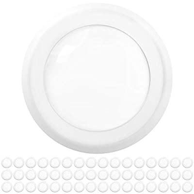"""Sunco Lighting 48 Pack 5 Inch / 6 Inch Flush Mount Disk LED Downlight, 15W=100W, 6000K Daylight Deluxe, 1050LM, Dimmable, Hardwire 4/6"""" Junction Box, Recessed Retrofit Ceiling Fixture"""