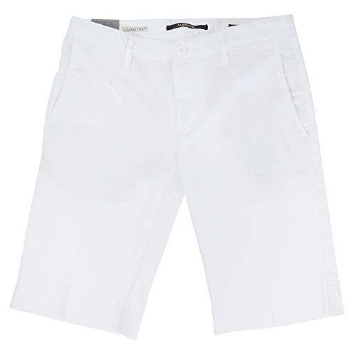 ALBERTO Slim-Fit Short in Chino-Optik Weiss (100 White) 38