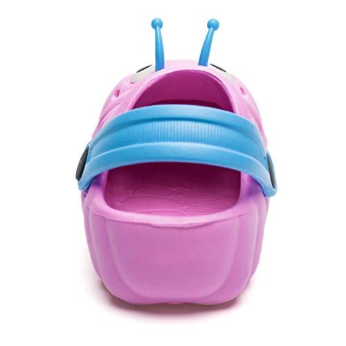 Kleine Tomate Unisex Kinder Hausschuhe, Pink - 3