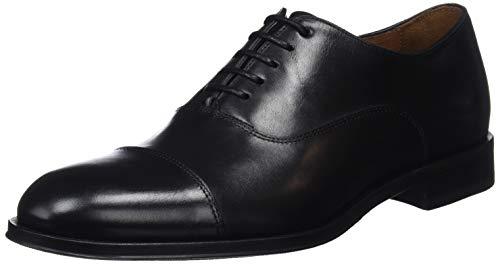Lottusse L6965, Zapatos Oxford Puntera Recta Hombre, Negro (Ebony Negro), 45 EU