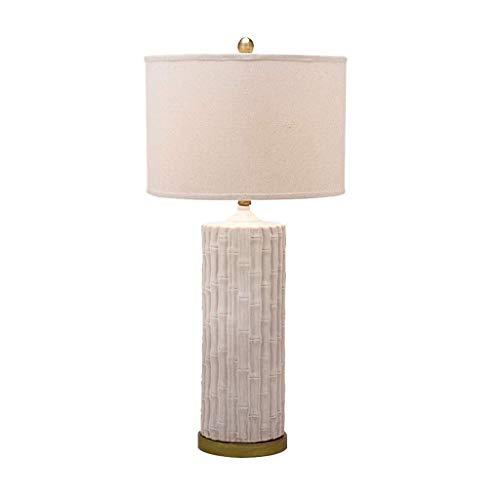 Equipo diario Lámparas de noche Lámpara de mesa de cerámica de campo americano Lámpara de tela de cama Lámpara de dormitorio Lámpara de noche minimalista moderna Lámpara de lectura de sala de estar