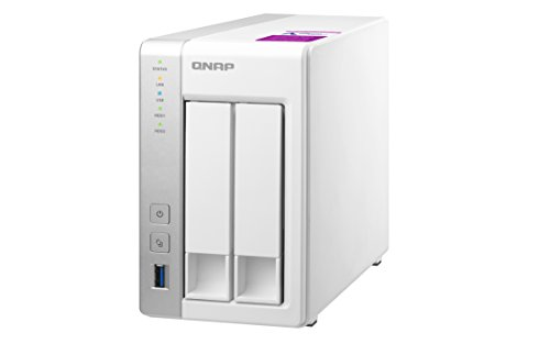 QNAP TS-231P-1G Desktop NAS Gehäuse mit 1 GB DDR3 RAM, Powerful 4-Bay Storage Server