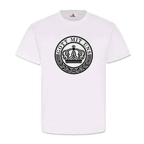 Koppel 1WK Gott mit Uns deutsches Kaiserreich Heer T Shirt #20085, Größe:XXL, Farbe:Weiß