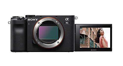 Sony Alpha 7 C - Fotocamera Digitale Mirrorless Full-frame, compatta e leggera, Real-time Autofocus, 24.2 MP, Stabilizzatore integrato a 5 assi, lunga durata della batteria (Nero)