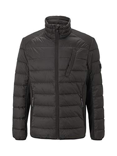TOM TAILOR Denim Herren Hybrid Jacke, 29999-Black, XL