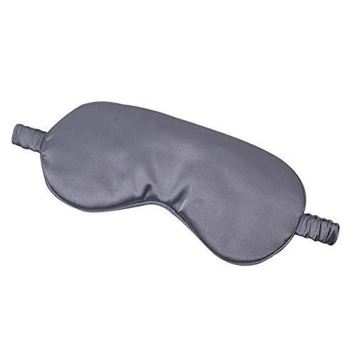 Schlafmaske 100% 3D-Silk Schlaf natürlichen Schlaf-Augen-Schablonen-Maske eyeshade Abdeckung Schatten-Augen-Flecken weiche bewegliche Blindfold Reisen (Color : Gray)