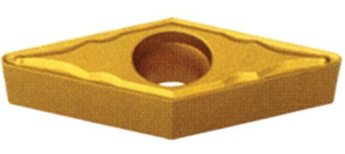 "Cobra Carbide 44570 Solid Carbide Turning Insert, CM02 Grade, Multilayer Coated, VBMT Style, VBMT 221CF, 0.125"" Thick, 0.016"" Radius (Pack of 10)"