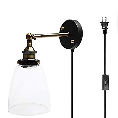 Plug in Glass Wall lamp