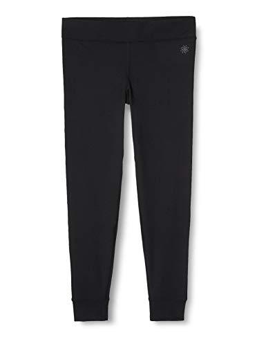 Amazon-Marke: AURIQUE Damen Sportleggings mit Seitenstreifen, Schwarz (Black), 36, Label:S