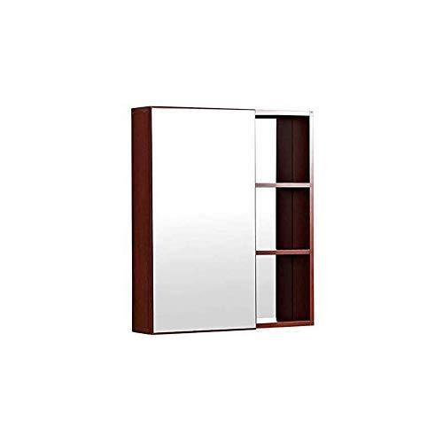 HIZLJJ Armarios con espejo Aluminio botiquín del baño recreo o de montaje en superficie del espejo del espejo de maquillaje Gabinete de baño anti-corrosión Moho maquillaje Espejo Espejo de pared Armar
