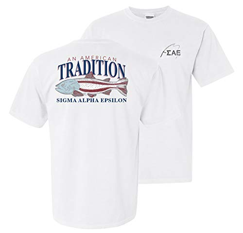 SAE Comfort Colors American Trout Tee White