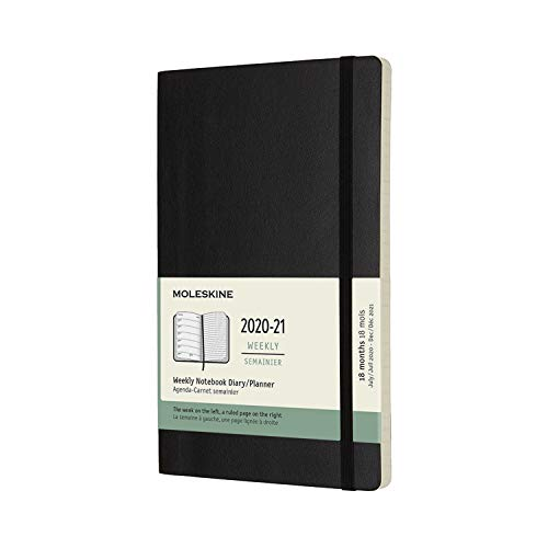 Moleskine 18 Month 2020-2021 Weekly Planner, Soft Cover (DSB18WN3Y21)