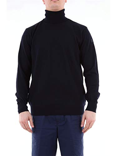 Paul and Shark Herren Schurwolle Roll Hals Pullover Marine M