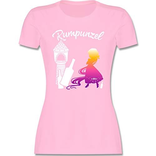 Typisch Frauen - Rumpunzel - S - Rosa - Kurzarm - L191 - Tailliertes Tshirt für Damen und Frauen T-Shirt