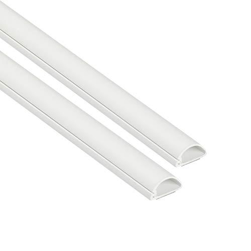 D-Line 1D2010W-2PK Mini Kabelkanal zur Kabelführung | Kabelleiste - 2 x 20x10 mm, 1 m Länge (2-meter) - Weiß