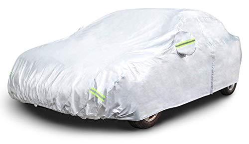 AmazonBasics – Wetterfeste Auto-Abdeckung, silberfarben, 150-D-Oxford, Limousinen bis 510cm