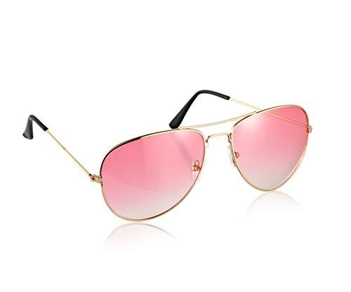Komonee Piloten Rosa Linse Sonnenbrille Designer Unisex UV400 Schutz