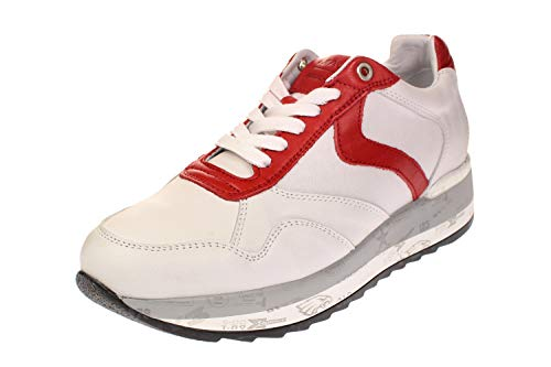 Maca Kitzbühel 2457 - Damen Schuhe Sneaker - White-red, Größe:41 EU