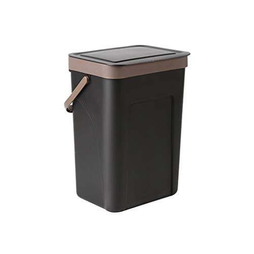 ANQIY Residuos Contenedores, Colgable con Tapa for Evitar El Olor A Basura Contenedor De Basura Montado En La Pared De Plástico Hogar Cocina Escritorio Pequeña Higiene Bote de Basura