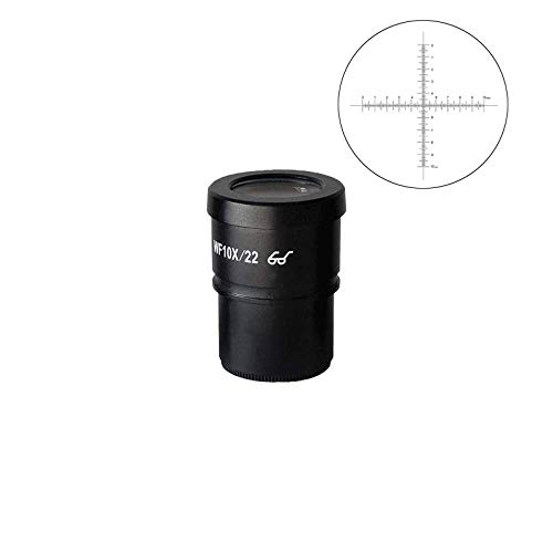 BoliOptics WF 10X Widefield Microscope Eyepiece with Reticle, Crosshair Scale, High Eyepoint, Mounting Size 30mm, Field of View 22mm (One) SZ05013232