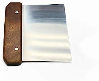 "EHP Multi-Purpose Stainless Steel Dough Scraper And Chopper (6"" X 3"" Blade, Wood)"