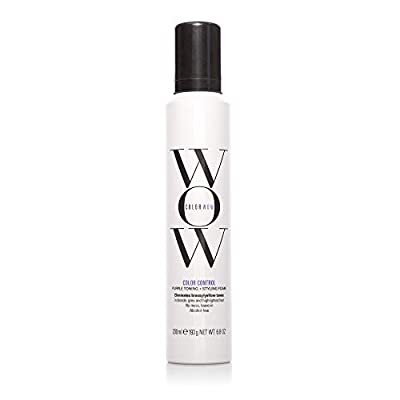 COLOR WOW Color Control Purple Toning + Styling Foam for Blonde Hair