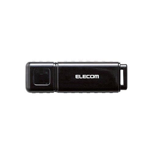 エレコム USBメモリ 16GB セキュリティソフト対応 ストラップホール付 1年間保証 ブラック MF-HSU2A16GBK