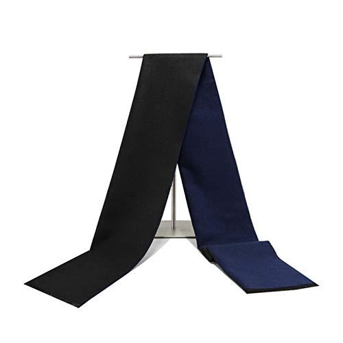 SonMo Baumwolle Herren Herbstschal Winterschal Schal Kariert Pieces Warm Kariert Gebürstet Deckenschal für Jeden Alters Blau Schwarz 180×30CM