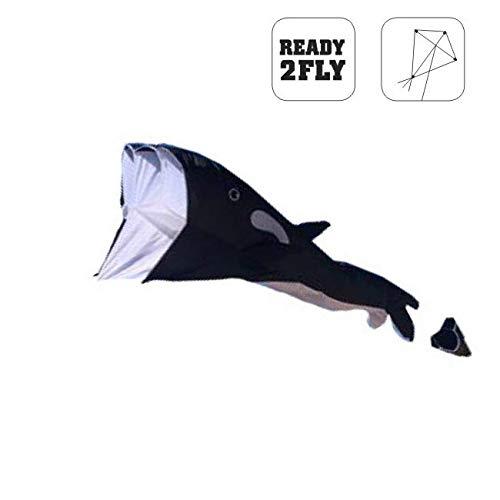 Wolkenstürmer Willi The Whale, Wal-Drachen Einleiner mit Ringspule