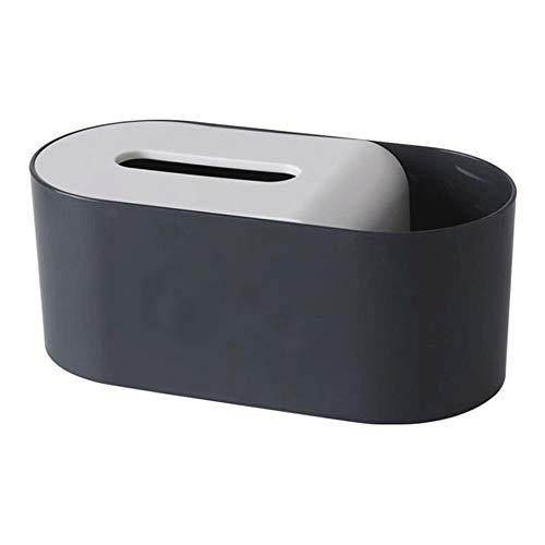 KDEKIFN Caja de pañuelos Creativa Cubierta Servilleta Cajas de contenedores de Papel Inicio Coche Organizador de Escritorio Soporte de Control Remoto Maquillaje Caja de Almacenamiento de cosméticos