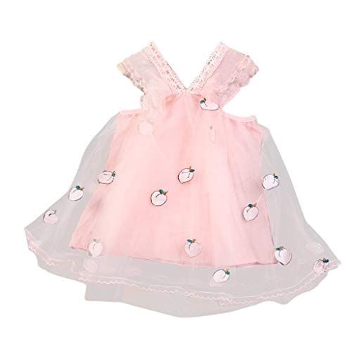 Kolylong Deguisement Carnaval Costume Fille Princesse Robe Robe de soirée Chic Rose 11
