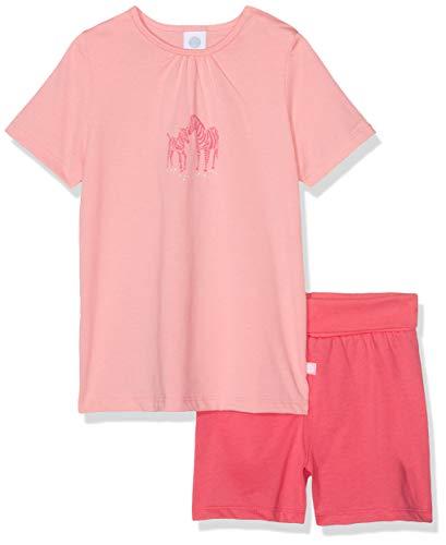 Sanetta Baby-Mädchen Pyjama Short Zweiteiliger Schlafanzug, Rot (Coral Light 3937), 92