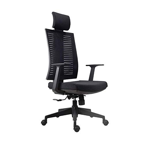 WSDSX Home Office Chair Conference Chair with Support Armrest Height Adjustable Work Chair Household Lifting and Rotating Ergonomic Computer Chair (Color : Black)