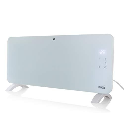 Princess 01.342001.01.001 Calefactor con panel de cristal Smart, controlado por app, 2000 W, blanco