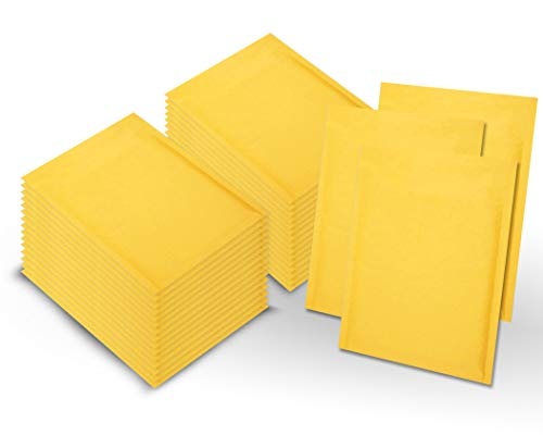 Amiff Pack of 500 Kraft Bubble mailers 6x9 Padded envelopes 6 x 9 Kraft Paper Cushion envelopes. Exterior Size 7x9.5 (7 x 9 1/2). Peel & Seal. Mailing, Shipping, Packing, Packaging.