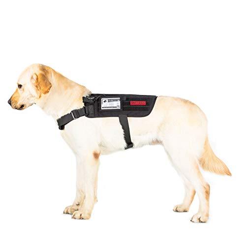 OneTigris Apollo 09 Taktische Hundeweste Hunde Harness MOLLE Verstellbar Hundegeschirr für Service Hunde Haustier Hund (Schwarz) |MEHRWEG Verpackung