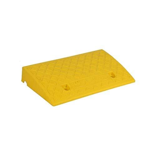 Z-W-Dong Tragbare Rampen Matte, Farbe Kunststoff Schritt Mattenwagen Rollstuhl Curb Ramps Klassenzimmer Tür Schwelle Rampen Höhe: 7-13CM Rampen (Color : Yellow, Size : 50 * 27 * 11CM)