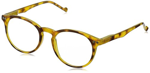 Peepers by PeeperSpecs Brain Trust Round Reading Glasses, Yellow Tortoise, 45 mm + 1.75