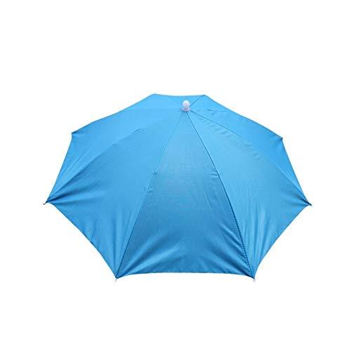 ZANGAO Männer Frauen Mehrfarben Faltbare Neuheit Regenschirm Sonnenhut Golf Angeln Camping extravaganter Hut (Color : F, Size : One Size)