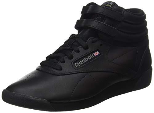 Reebok Freestyle Hi - Zapatillas de cuero para mujer, Negro (Black), 39 EU