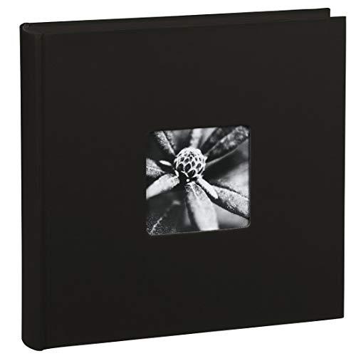 Hama Fotoalbum Jumbo 30x30 cm (Fotobuch mit 100 schwarzen Seiten, Album für 400 Fotos zum Selbstgestalten und Einkleben) schwarz