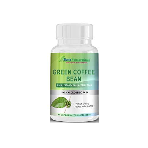 Extracto de Grano de Café Verde de Primera 1000mg para pérdida de peso. La más alta fuerza en el mercado. Quemagrasa con un 50% de ácido clorogénico.
