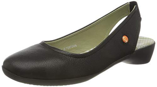 Softinos Damen Giny581Sof Slingback Sandalen, Schwarz (Black 000), 39 EU