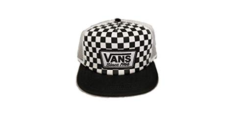 """Vans """"Off The Wall Checker Trucker Snapback Sombrero OSFA Negro/Blanco VN0A46MZLOA"""